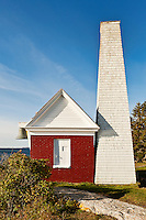 Pemaquid Point Light Station Fog Bell House, Muscongus Bay, Bristol, Maine, USA. 1827