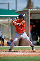 GCL Astros James Nix (59) at bat during a Gulf Coast League game against the GCL Marlins on August 8, 2019 at the Roger Dean Chevrolet Stadium Complex in Jupiter, Florida.  GCL Astros defeated GCL Marlins 4-2.  (Mike Janes/Four Seam Images)