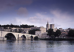 Europe, FRA, France, Provence, Vaucluse, Avignon, Typical view on to the city, Bridge Pont St. Benezet at Avignon (Pont d'Avignon), Palace of the Pope ( Palais du Pape)....[ For each utilisation of my images my General Terms and Conditions are mandatory. Usage only against use message and proof. Download of my General Terms and Conditions under http://www.image-box.com or ask for sending. A clearance before usage is necessary...Material is subject to royalties. Each utilisation of my images is subject to a fee in accordance to the present valid MFM-List...Contact | archive@image-box.com | www.image-box.com ]
