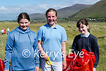 Rossbeigh Beach clean up<br /> <br /> Pupils form Glenbeigh National School gathered at Rossbeigh Beach on Friday evening for the annual clean-up<br />  L-R Ava O'Shea, Ruby Breen &  Eleanor Griffin