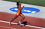13 JUNE 2015: Claudia Francis of Florida runs the anchor leg of the Women's 4X400 meter relay during the Division I Men's and Women's Outdoor Track & Field Championship held at Hayward Field in Eugene, OR. Florida won the event in a time of 3:28.12. Steve Dykes/ NCAA Photos