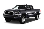 2016 Toyota Tacoma SR5 Access Cab 4 Door Pick Up angular front stock photos of front three quarter view