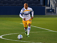 KANSAS CITY, KS - NOVEMBER 22: Judson #93 of the San Jose Earthquakes dribbles the ball in midfield before a game between San Jose Earthquakes and Sporting Kansas City at Children's Mercy Park on November 22, 2020 in Kansas City, Kansas.