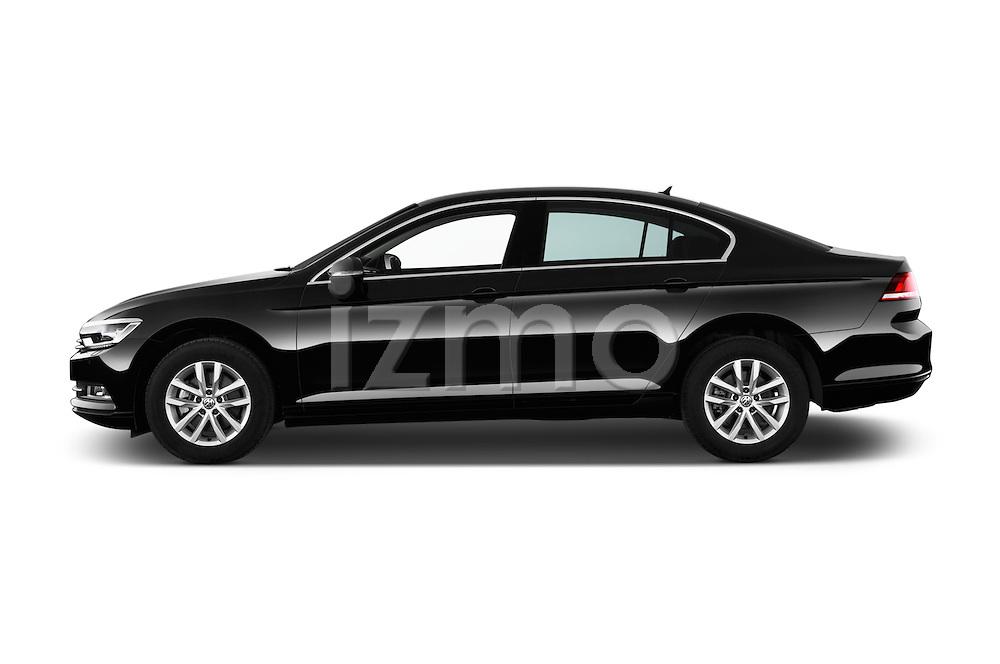Car Driver side profile view of a 2015 Volkswagen Passat Comfort 4 Door Sedan Side View