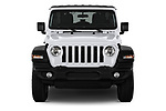 Car photography straight front view of a 2020 Jeep Wrangler Unlimited Sport 5 Door SUV