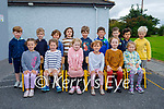 Junior Infants in Ms Clearys class in the Castlegregory Mixed NS on Wednesday,