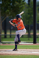 Houston Astros Austin Dennis (45) bats during a Minor League Spring Training Intrasquad game on March 28, 2019 at the FITTEAM Ballpark of the Palm Beaches in West Palm Beach, Florida.  (Mike Janes/Four Seam Images)