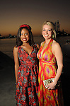 """Amber Elliott and Christina Stith at the San Luis Salute """"Space Pirates"""" VIP reception Friday February 24,2017. (Dave Rossman Photo)"""