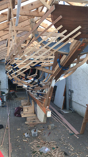 The latest Howth 17 Anna is currently under construction by owner Gerry Comerford at his home in Howth