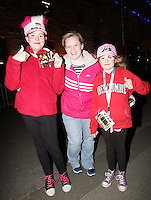 20/11/13<br /> Fans Niamh Newman,Aoife Dunne and Chloe McKown pictured arriving to the Cheerios Childline Concert at the O2 Dublin this evening….<br /> Pic Collins Photos