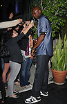 """Lamar Odom towers over the reporters  at The Axe Music """"One Night Only"""" Concert series,Weezer headlines & takes over The Dunes Inn Motel in Hollywood, California on September 21,2010                                                                               © 2010 Hollywood Press Agency"""