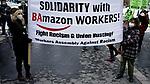 Demonstration against Amazon Working Politics