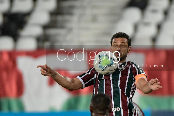 RIO DE JANEIRO (RJ) - 16/01/2021 - FLUMINENSE-SPORT - Fred, do Fluminense. Partida entre Fluminense e Sport, válida pela 30ª rodada do Campeonato Brasileiro 2020, realizada no Estádio Nilton Santos (Engenhão), no Rio de Janeiro, neste sábado (16).