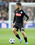 SSC Napoli's Lorenzo Insigne during Champions League 2016/2017 Round of 16 1st leg match. February 15,2017. (ALTERPHOTOS/Acero)