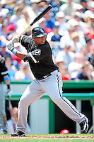 20 June 2010: Chicago White Sox third baseman Dayan Viciedo at bat against the Washington Nationals at Nationals Park in Washington, DC. The White Sox swept the Nationals winning 6-3 in the last game of their 3-game interleague series. Mandatory Credit: Ed Wolfstein Photo