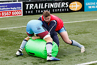 London Scottish do tackle drills during the Greene King IPA Championship match between Ealing Trailfinders and London Scottish Football Club at Castle Bar , West Ealing , England  on 19 January 2019. Photo by Carlton Myrie/PRiME Media Images