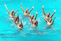 7 Italia ITALY <br /> BOZZO Elisa, CALLEGARI Beatrice, CATTANEO Camilla, DEIDDA Francesca, FERRO Costanza, FLAMINI Manila, PERRUPATO Mariangela,SGARZI Sara<br /> CERRUTI Linda  - Reserve<br /> Team Technical <br /> Synchronised Swimming Olympic Games Qualification Tournament<br /> Maria Lenk Aquatic Centre - Rio De Janeiro Brazil<br /> Day4  05 March 2016 <br /> Italia qualificata per le Olimpiadi di Rio 2016 <br /> Photo G.Scala/Insidefoto/Deepbluemedia
