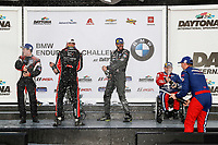 #54 JDC-Miller MotorSports Audi RS3 LMS TCR, TCR: Michael Johnson, Stephen Simpson, #61 Road Shagger Racing Audi RS3 LMS TCR, TCR: Gavin Ernstone, Jon Morley, #32 FAST MD Audi RS3 LMS TCR, TCR: William Tally, podium, champagne