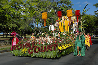 The Royal Court float in the annual Aloha Festivals Parade