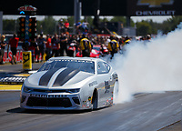 Sep 2, 2017; Clermont, IN, USA; NHRA pro stock driver Chris McGaha during qualifying for the US Nationals at Lucas Oil Raceway. Mandatory Credit: Mark J. Rebilas-USA TODAY Sports