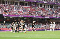 Stephanie HOUGHTON of Great Britain scores the winning goal - Great Britain Women vs New Zealand Women - Womens Olympic Football Tournament London 2012 Group E at the Millenium Stadium, Cardiff, Wales - 25/07/12 - MANDATORY CREDIT: Gavin Ellis/SHEKICKS/TGSPHOTO - Self billing applies where appropriate - 0845 094 6026 - contact@tgsphoto.co.uk - NO UNPAID USE.