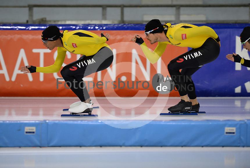 SCHAATSEN: HEERENVEEN, IJsstadion Thialf, 02-10-2020, TEAM JUMBO/VISMA, Dai Dai N'Tap, Hein Otterspeer, ©foto Martin de Jong