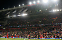 A general view of the action under the floodlights of the Kenny Dalglish stand <br /> <br /> Photographer Rich Linley/CameraSport<br /> <br /> UEFA Champions League Round of 16 Second Leg - Liverpool v Atletico Madrid - Wednesday 11th March 2020 - Anfield - Liverpool<br />  <br /> World Copyright © 2020 CameraSport. All rights reserved. 43 Linden Ave. Countesthorpe. Leicester. England. LE8 5PG - Tel: +44 (0) 116 277 4147 - admin@camerasport.com - www.camerasport.com