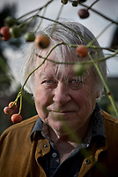 Author Richard Mabey pictured  at his home in Suffolk, UK