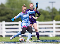 Haley Woodward kicks the ball aginst St. Mary's Academy at Wildcat Stadium, Springdale, Arkansas, Friday, May 14, 2021 / Special to NWA Democrat-Gazette/ David Beach