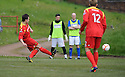 Scott Chaplain (10) scores Albion Rovers' third goal from the penalty spot......