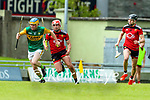 Paudie O'Connor, Kerry in action against Pearse Og McCrickard, Down during the National hurling league between Kerry v Down at Austin Stack Park, Tralee on Sunday.