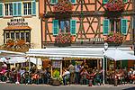 France, Alsace, Haut-Rhin, Colmar: wine tavern Unterlinden and restaurant Pfeffel at old town | Frankreich, Elsass, Haut-Rhin, Colmar: Weinstube Unterlinden und Restaurant Pfeffel in der Altstadt