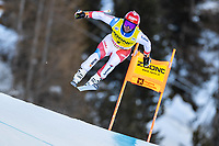 26th December 2020; Stelvio, Bormio, Italy; FIS World Cup Mens Downhill;   Beat Feuz of Switzerland during his 1st training run for the mens downhill race of FIS ski alpine world cup at the Stelvio