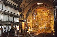 Europe/France/Aquitaine/64/Pyrénées-Atlantiques/Saint-Jean-de-Luz: Intérieur de l'église St Jean-Baptiste 17 è siècle