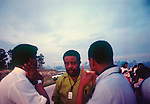 Ralph David Abernathy, with other organizers of the Poor People's March, as they begin their march, early in the morning of July 15, 1969.