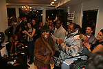 Amoy Pitters arrives to Celebrity Hairstylist Amoy Pitters & Host Joy Bryant Celebrate The Opening of Amoy Couture Hair Salon with Music by DJ Cassidy, New York, 2/16/10