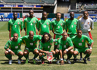 05 July 2009: Guadeloupe Starting XI pose together for group photos before the game against Panama at Oakland-Alameda County Coliseum in Oakland, California.   Guadeloupe defeated Panama, 2-0.