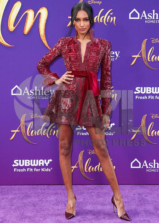 HOLLYWOOD, EUA, 21.05.2019 - PREMIERE-ALADDIN - Jasmine Tookes durante tapete vermelho do filma Aladdin no El Capitan Theatre em Hollywood nos Estados Unidos nesta terça-feira, 21. (Foto: Brazil Photo Press/Folhapress)