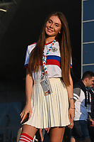 ST PETERSBURG, RUSSIA - JUNE 12 :  illustration image showing a fan of russia pictured during the 16th UEFA Euro 2020 Championship Group B match between Belgium and Russia on June 12, 2021 in St Petersburg, Russia, 12/06/2021 <br /> Photo Photonews / Panoramic / Insidefoto <br /> ITALY ONLY