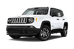 Stock pictures of low aggressive front three quarter view of2017 JEEP Renegade Sport 5 Door Suv Low Aggressive