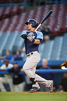Trenton Thunder designated hitter Tyler Austin (17) at bat during the second game of a doubleheader against the Hartford Yard Goats on June 1, 2016 at Sen. Thomas J. Dodd Memorial Stadium in Norwich, Connecticut.  Trenton defeated Hartford 2-1.  (Mike Janes/Four Seam Images)