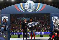 BOGOTA - COLOMBIA, 28-01-2018: Independiente Santa Fe y América de Cali en partido por la final del Torneo Fox Sports 2018 jugado en el estadio Nemesio Camacho El Campin de la ciudad de Bogotá. / Independiente Santa Fe and America de Cali in match for the final of the Fox Sports  Tournament 2018 played at Nemesio Camacho El Campin Stadium in Bogota city. Photo: VizzorImage / Felipe Caicedo / Staff.