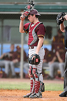 February 22, 2009:  Catcher Kyle Knudson (6) of the University of Minnesota during the Big East-Big Ten Challenge at Naimoli Complex in St. Petersburg, FL.  Photo by:  Mike Janes/Four Seam Images