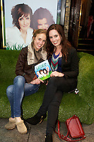 NO FEE PICTURES 1/5/12 Fair City's Kerrie O'Sullivan and Aoibheann McCaul at the opening night of the world premiere of Fiona Looney's new play Greener at the Gaiety Theatre, Dublin. Picture:Arthur Carron/Collins