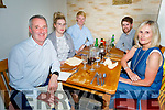 The Carmody family from Tralee, enjoying the evening in Bella Bia on Saturday,<br /> L to r: Aidan, Cliona, Jack, Darragh and Avril Carmody.