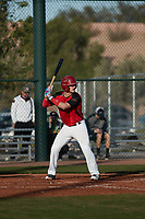 Dakotah Danner (4) of Montgomery Central High School in Cunningham, Tennessee during the Baseball Factory All-America Pre-Season Tournament, powered by Under Armour, on January 14, 2018 at Sloan Park Complex in Mesa, Arizona.  (Freek Bouw/Four Seam Images)