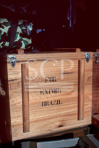 "Brazil. Wooden crate marked ""For export Brazil""."