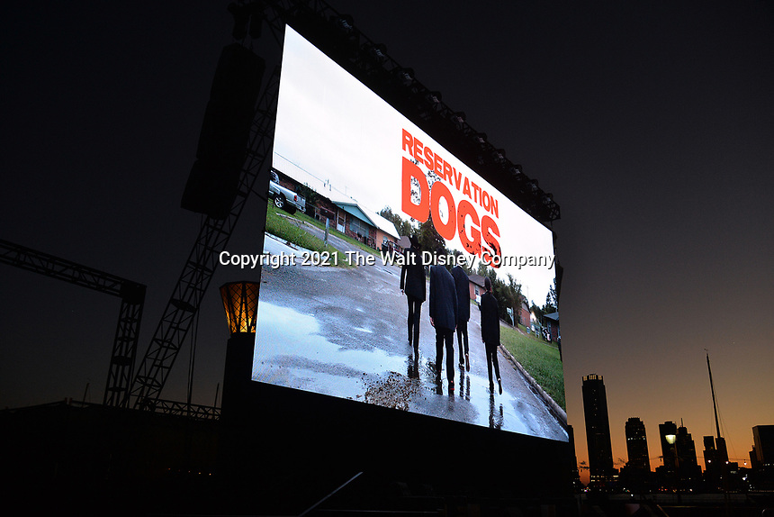 """New York CITY - JUNE 15: Atmosphere  at the Tribeca Festival screening of FX's """"Reservation Dogs"""" on June 15, 2021 in New York City. (Photo by Anthony Behar/FX/PictureGroup)"""