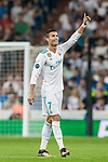 Cristiano Ronaldo of Real Madrid celebrates during the UEFA Champions League 2017-18 match between Real Madrid and APOEL FC at Estadio Santiago Bernabeu on 13 September 2017 in Madrid, Spain. Photo by Diego Gonzalez / Power Sport Images