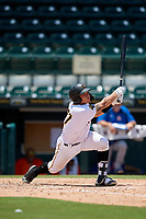 Bradenton Marauders Deon Stafford (37) bats during a Florida State League game against the St. Lucie Mets on July 28, 2019 at LECOM Park in Bradenton, Florida.  Bradenton defeated St. Lucie 7-3.  (Mike Janes/Four Seam Images)